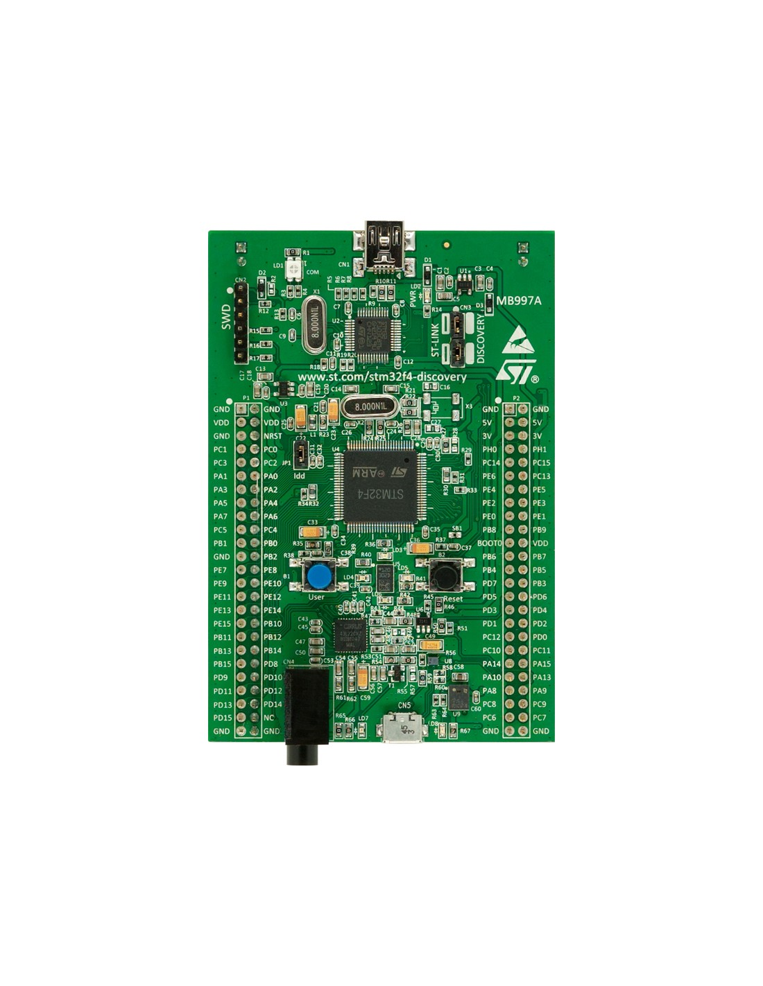 STM32F4 Discovery (STM32F4 Discovery Board STM32F407VG MCU: Discovery kit  for STM32 F4 series)