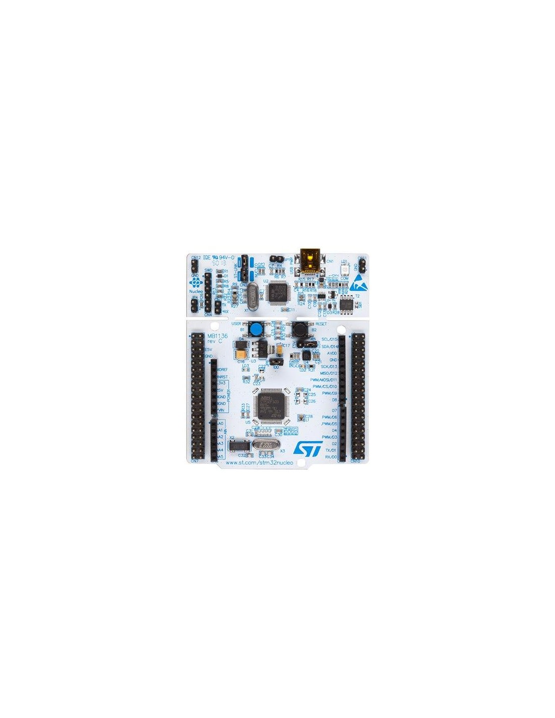 NUCLEO-F103RB (STM32 Nucleo development board for STM32 F1 series - with  STM32F103RBT6 MCU, Arduino-compatible pinout)