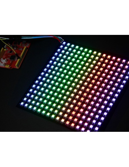 16x16 RGB LED Matrix w/ WS2812B - DC 5V (Flexible PCB, one wire serial  control - Neopixel compatible)