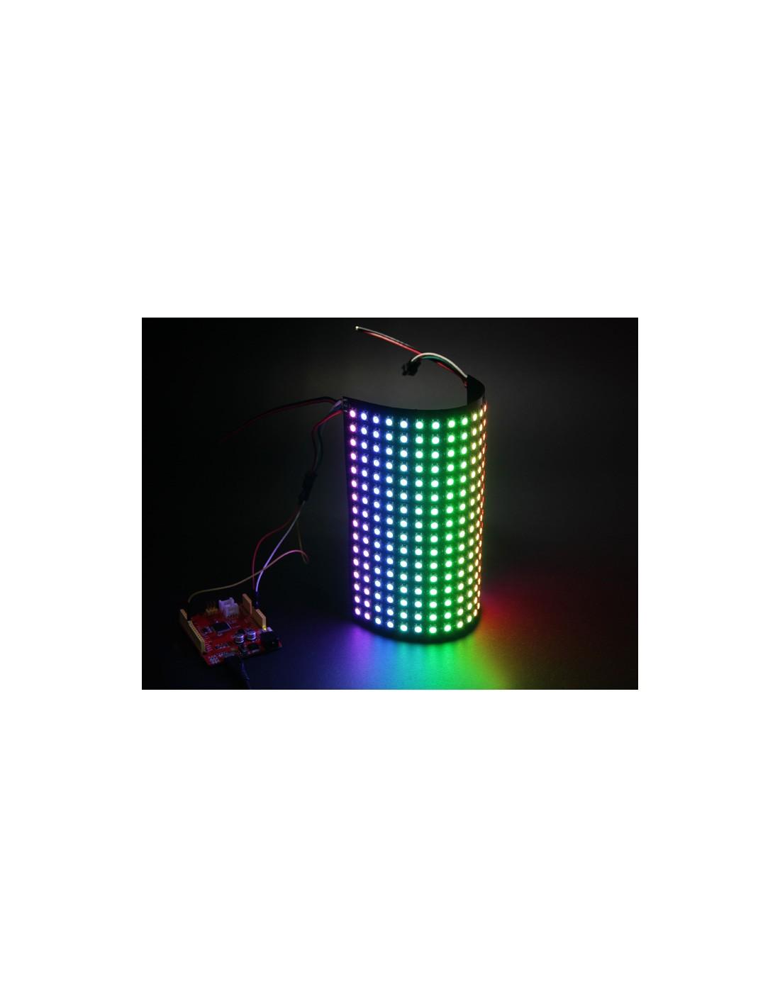 16x16 RGB LED Matrix w/ WS2812B - DC 5V (Flexible PCB, one