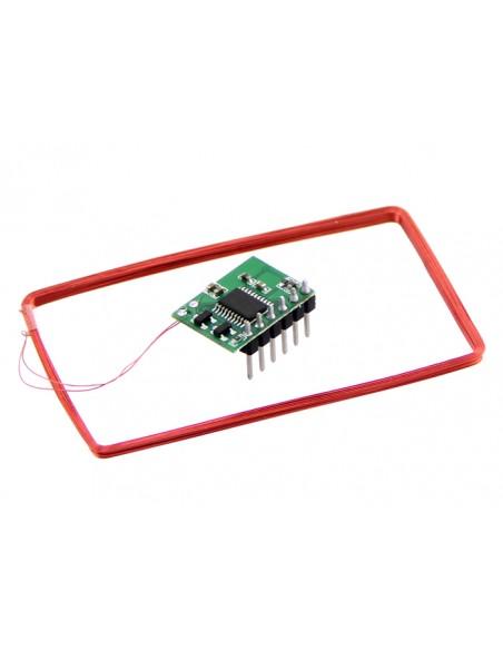 Mini 125Khz RFID Module - Pre-Soldered Antenna (70mm Reading Distance)