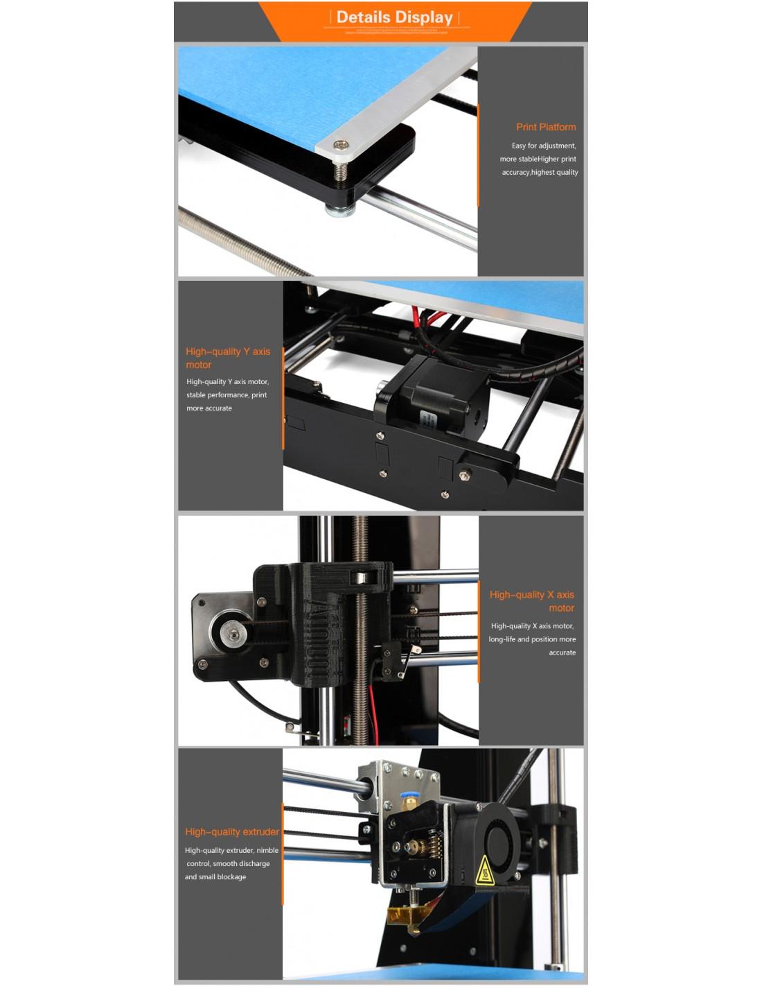 a3 802na imprimante 3d en kit avec mise niveau. Black Bedroom Furniture Sets. Home Design Ideas