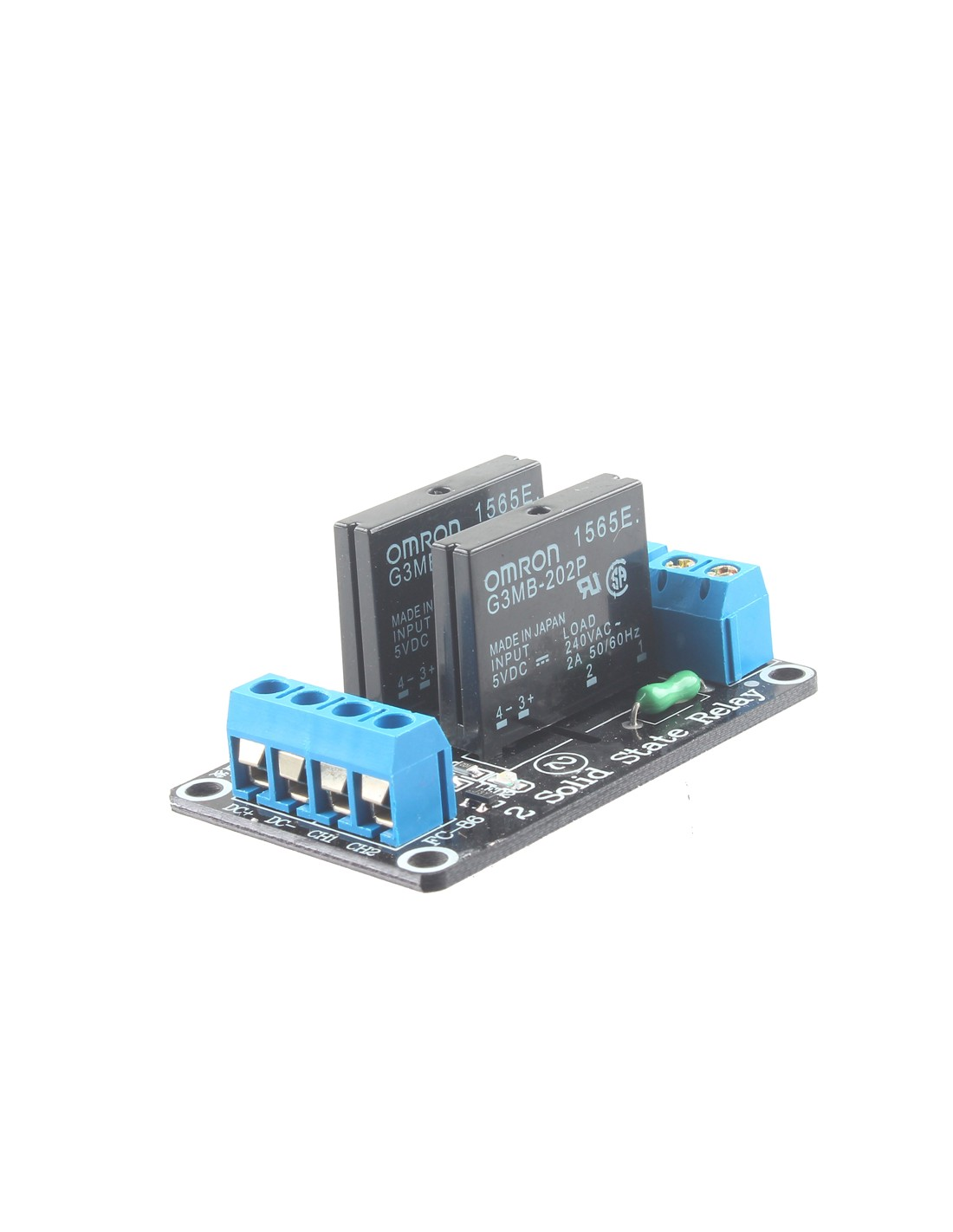 Relay Module Solid State High Level 2 Channel 5v Dc Basics Tap To Zoom