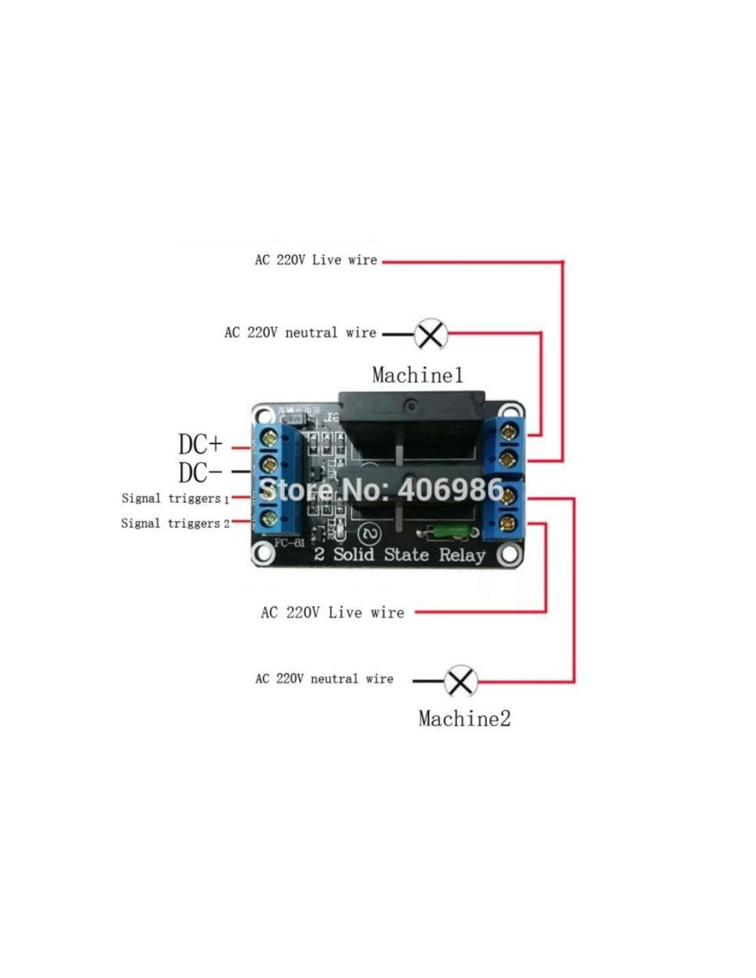 Relay Module Solid State High Level - 2 Channel 5V DC on