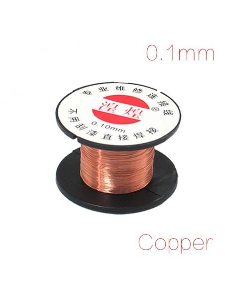 0.1mm Copper wire (very thin prototype/repair wire reel, 11 meter)