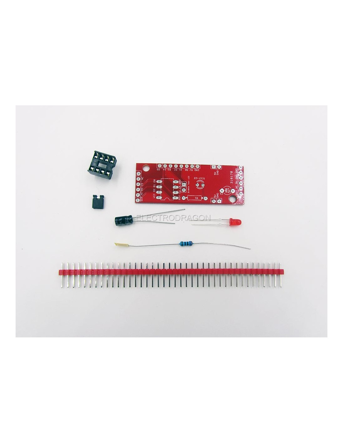 Attiny 13 45 85 Programming Shield Attiny2313 Based Lan Cable Tester Schematic