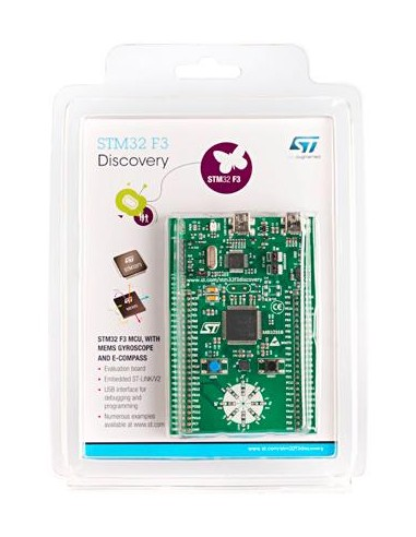 STM32F3 Discovery kit (STM32 F3 series - with STM32F303 MCU, 3D gyroscope,  3D compass and 3D magnetometer)