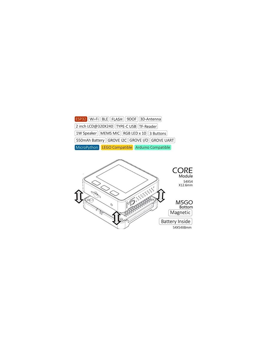 M5Stack Basic Kit (ESP32 dev module, Wifi, Bluetooth 4, LCD