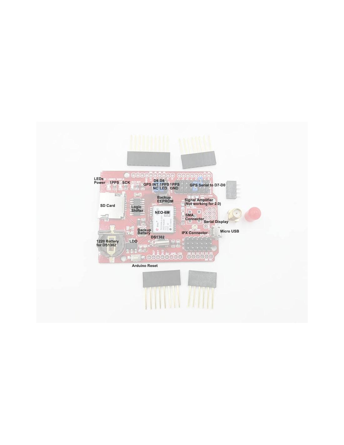 GPS Logger Shield Arduino , Ublox Neo-6M R2