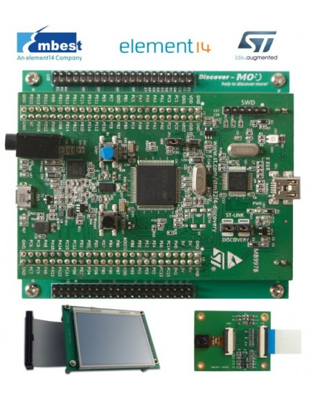 Extension board for STM32F4 Discovery (STM32F4DIS-BB, Ethernet, Micro SD,  RS232, connectors)